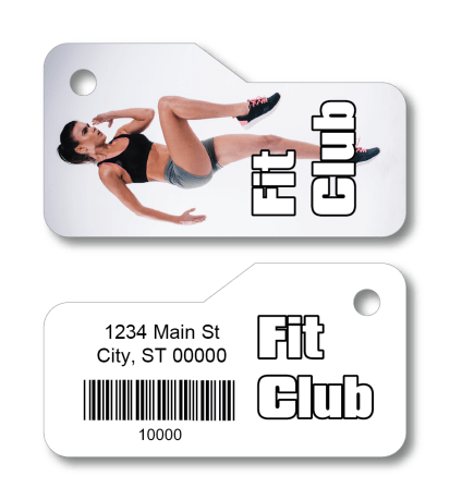 fitness gym member access key tag