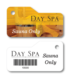sauna access key tag for spa and salon