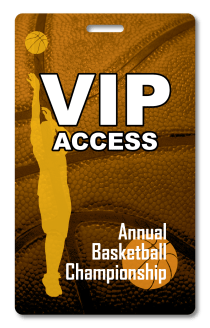 sporting event access badge