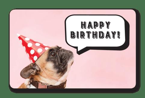 Birthday Gift Dog Card