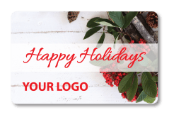Holiday Holly with Custom Logo Added