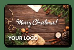 Christmas Gift Pine Card with Custom Logo