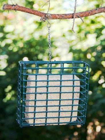 Wieder befüllbarer Energieblockhalter, © www.futter-spatz.de