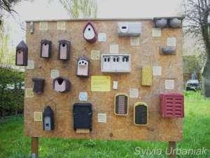 Verschiedene Nisthilfen und Insektenhotels der Firma Schwegler, © Sylvia Urbaniak