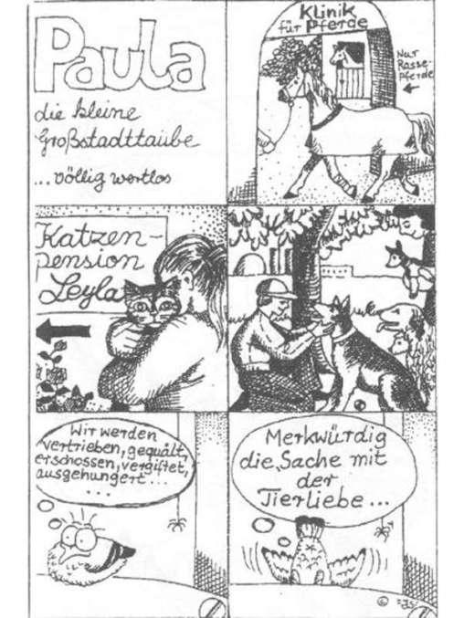 Paula-Comic 'vollig wertlos', © Tierbefreiungsoffensive Saar e. V.