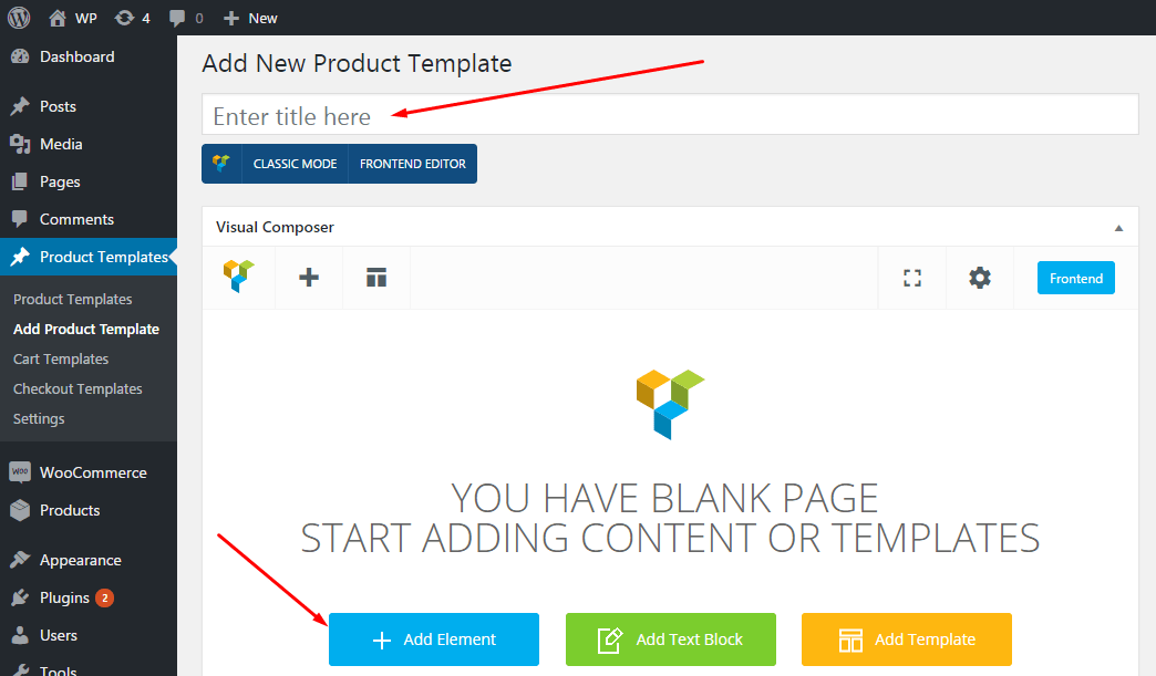 Ultimate Woocommerce Page Templates Builder | Visual Composer add-on 1