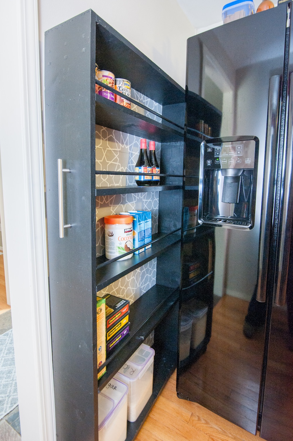 The Space Saving Rolling Pantry A Diy Tutorial