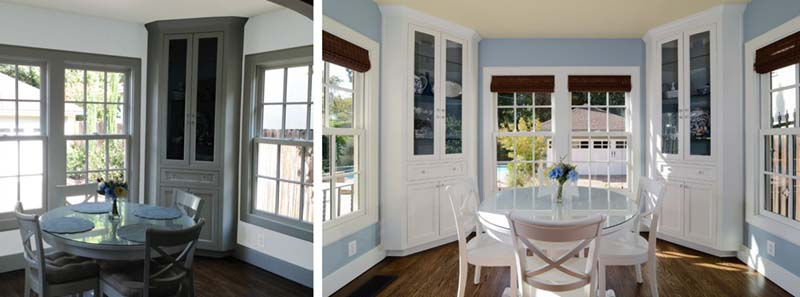 Before   After  Modern Colonial Style nook cropped