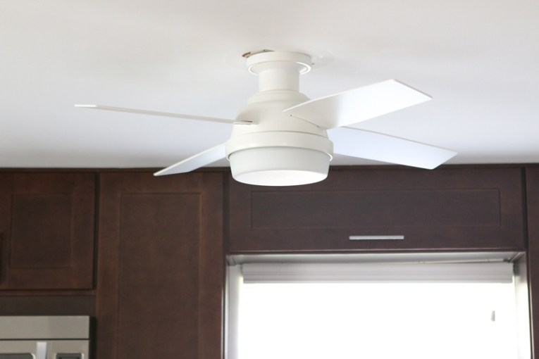 How to Replace a Ceiling Fan Removing the old fan left us with a bit of damage on the ceiling  A simple  patch and paint will make your ceiling look like new  and your updated fan  will