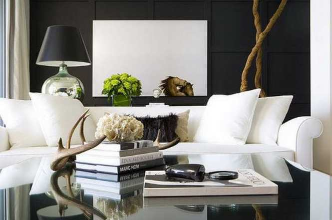 View In Gallery Combining A Traditional Design Style With Trendy Additions Like Vertical Black And White Stripes