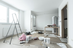 Rental Property Maintenance  Landlord or Tenant Responsibility     Home renovation in room full of painting tools