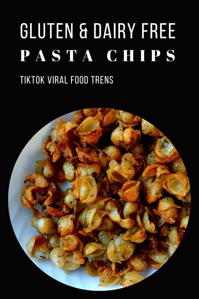pinning image for allergy friendly pasta chips