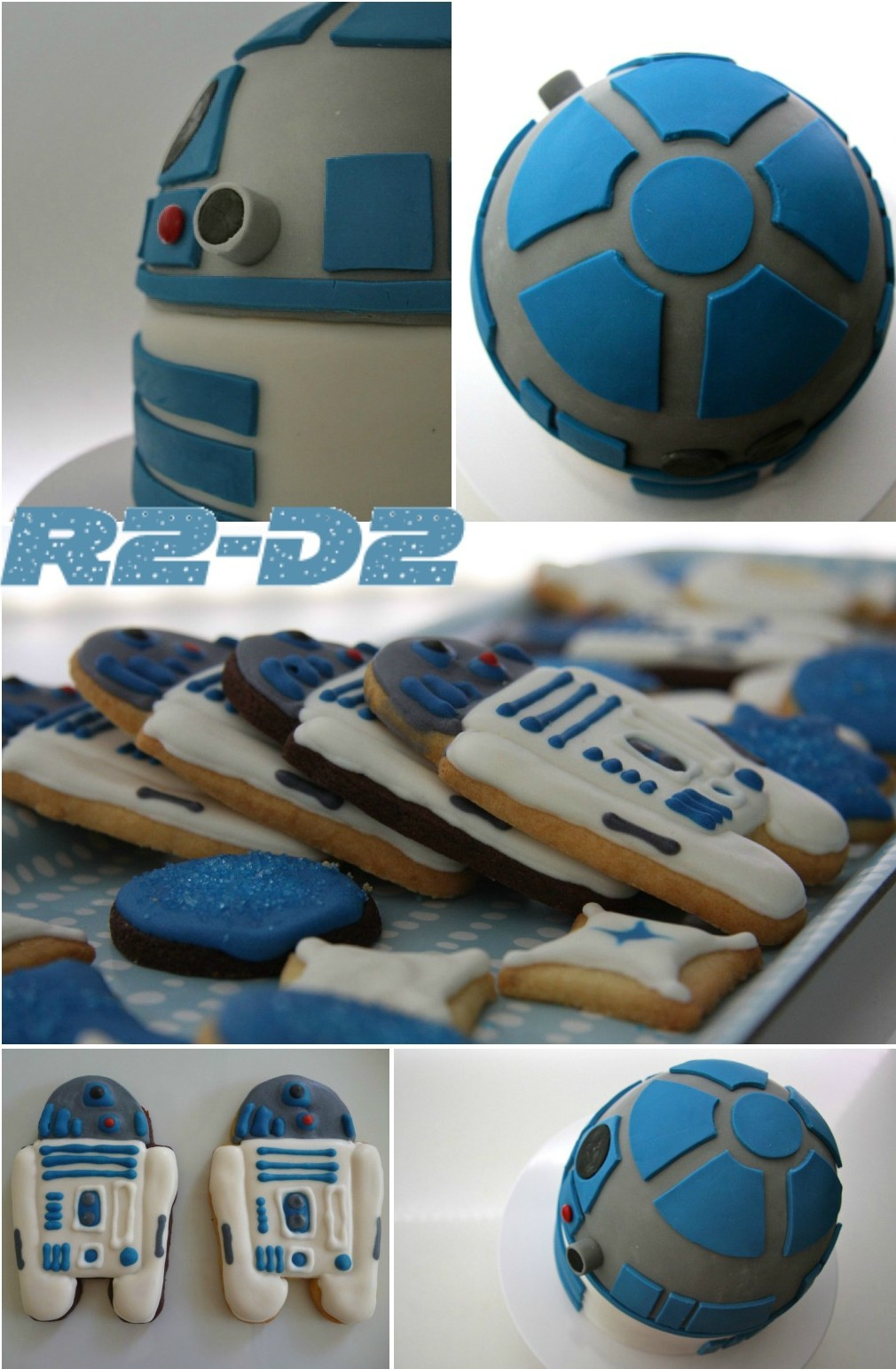 Star-Wars- simple r2d2 cake and cookies