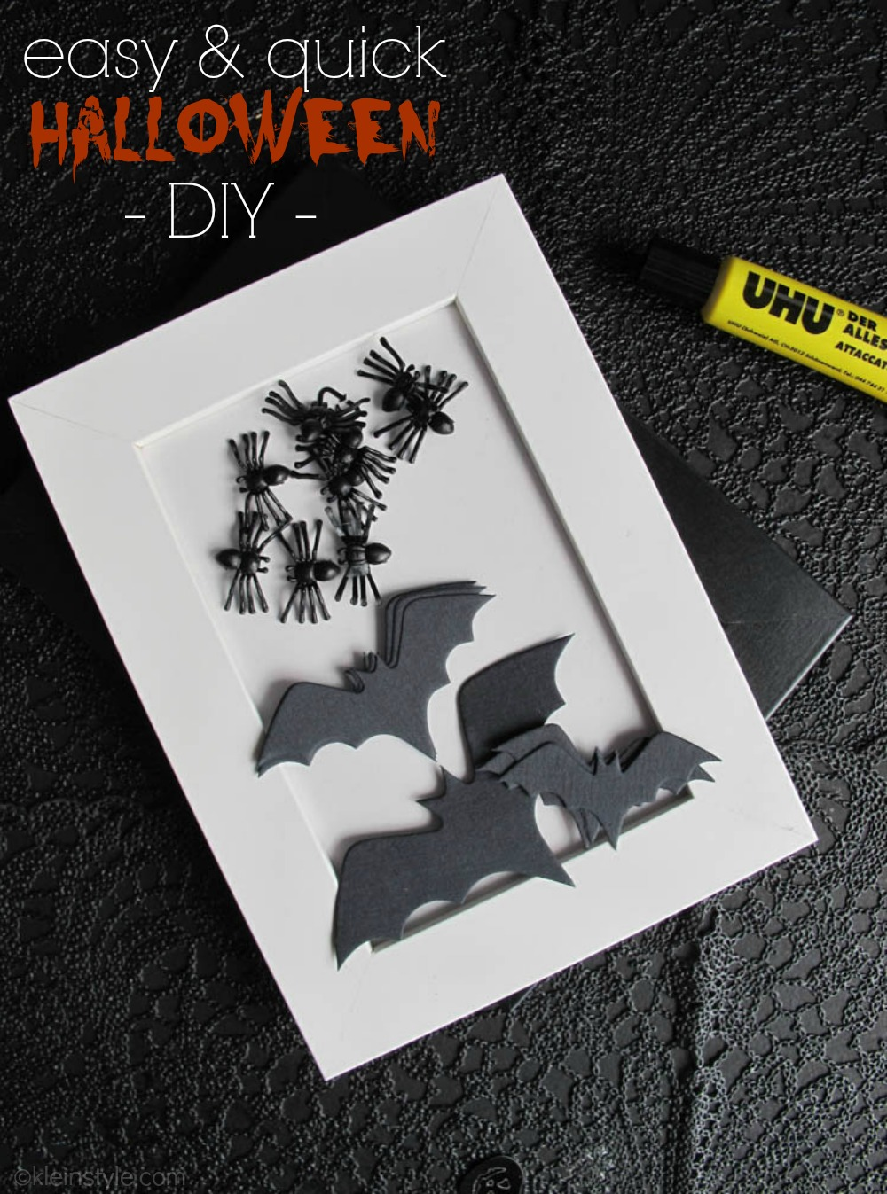 easy quick halloween diy bilder by kleinstyle.com