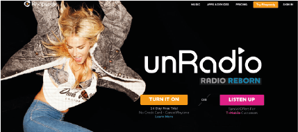 Unradio comes with airable.radio