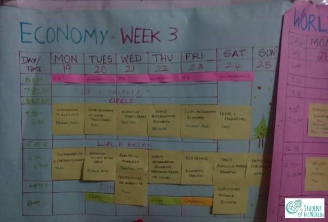 Schedule Economy Week