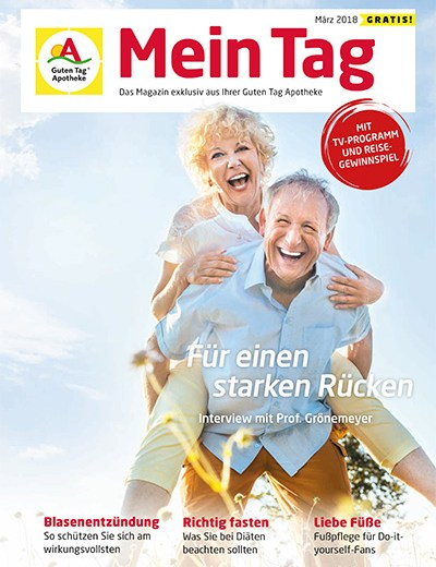 Kundenzeitschrift mit interessanten Artikeln und Rätseln