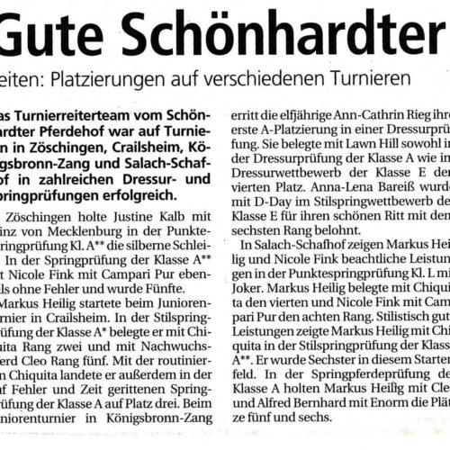 Gmuender Tagespost vom 23.05.2011