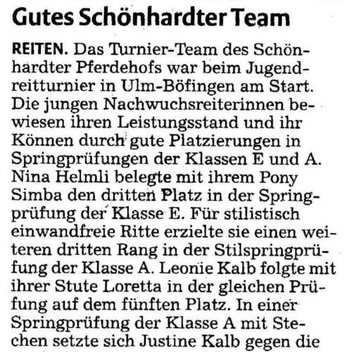 Rems-Zeitung vom 09.05.2009