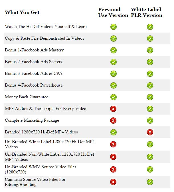 wp2fp version comparison table image