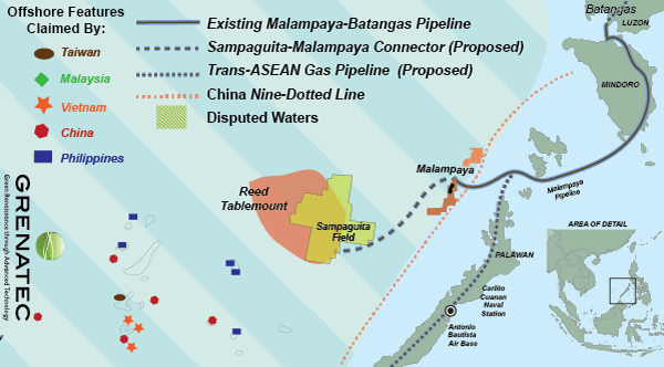 Reed Bank offers the South China Sea's best opportunity to create a template-setting Philppine-Cinese Joint Development Area. Sources: The Economist, Philex Petroleum, Forum Energy, Grenatec.