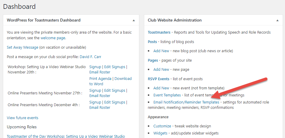 reminder list template
