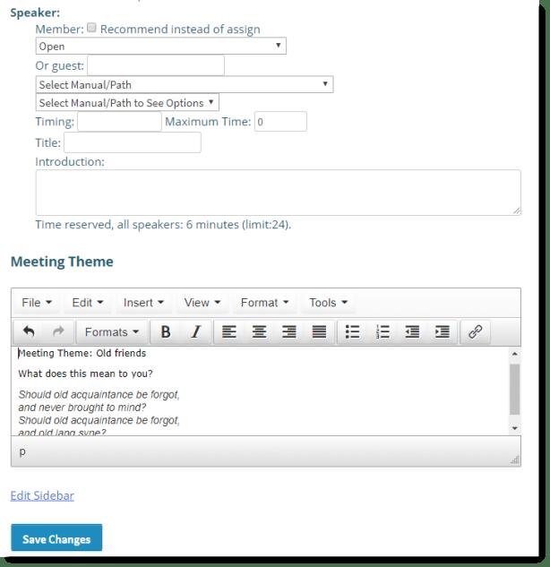 editing the editable field