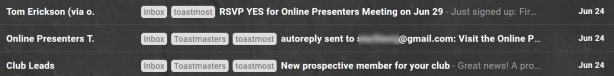Screenshot: verify autoreplies are being sent