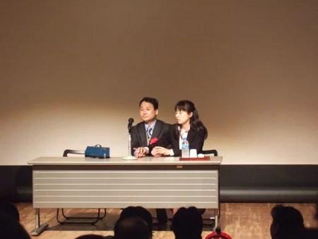 画像:福島智さん(左)
