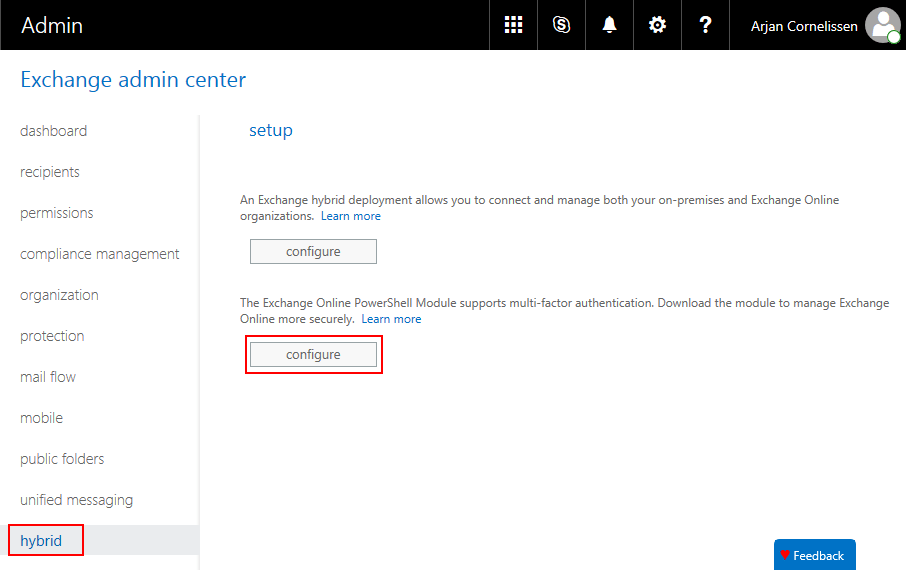 Connect to Exchange Online PowerShell with MFA enabled account