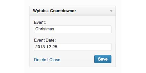 Building a Countdown Timer Widget