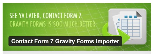 Contact Form 7 Gravity Forms Importer