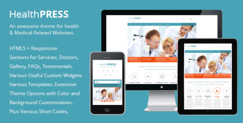 HealthPress - Health and Medical WP Theme