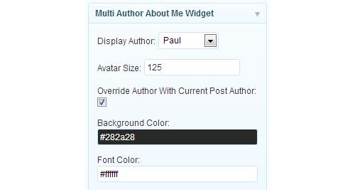 Multi Author About Me WordPress Widget