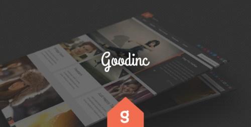GoodInc Flat Responsive Blog, News Theme