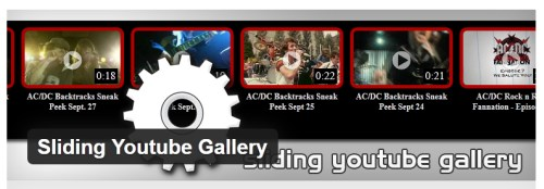 Sliding Youtube Gallery
