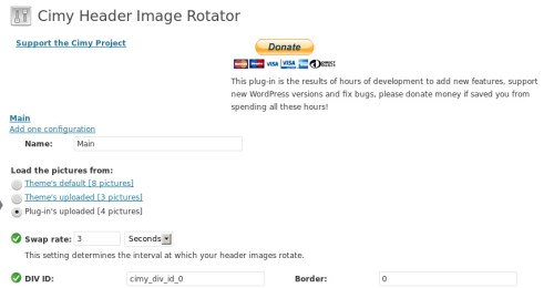 Cimy Header Image Rotator
