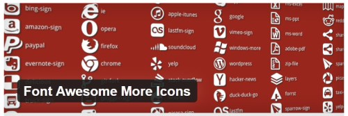 Font Awesome More Icons
