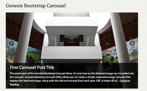 Genesis Bootstrap Carousel