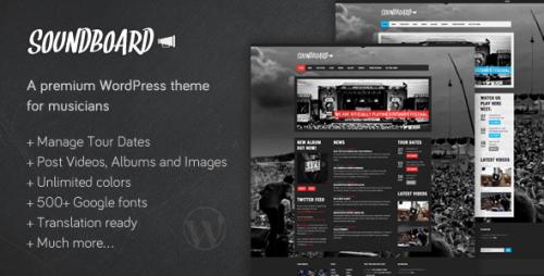 Soundboard - Premium Music WP Theme