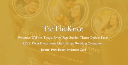 TieTheKnot - Responsive Wedding Theme