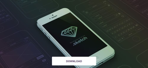 iPhone Wireframe UI Set