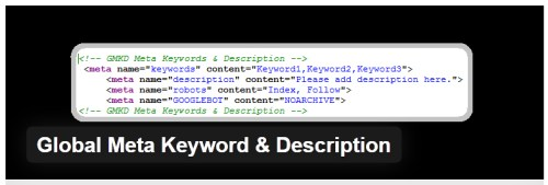 Global Meta Keyword & Description