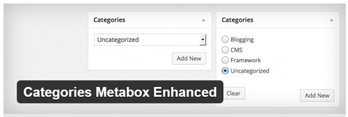 Categories Metabox Enhanced