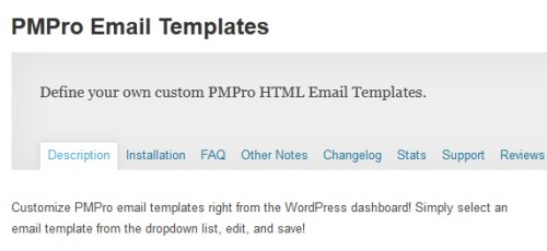 PMPro Email Templates