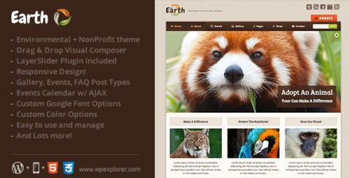 Earth - Environmental NonProfit WordPress Theme