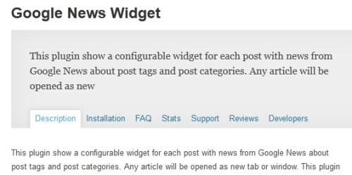 Google News Widget
