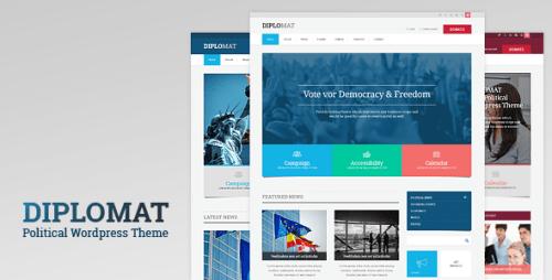 Diplomat - Political WordPress Theme