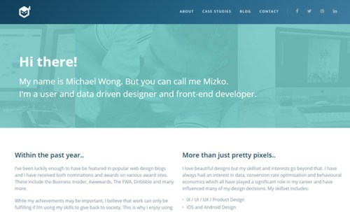 negative space in web design
