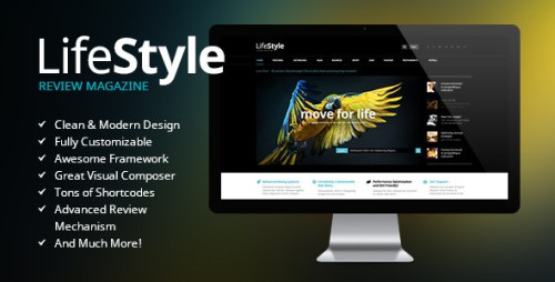 LifeStyle - Magazine Review WordPress Theme